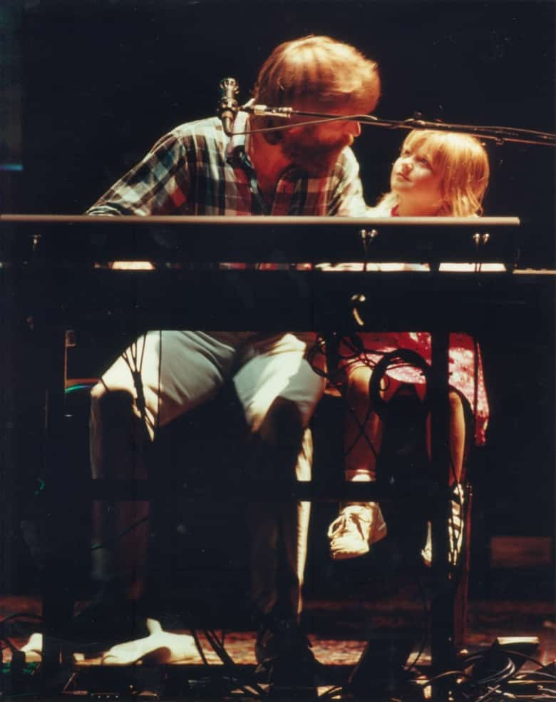Brent Mydland Grateful Dead Keyboardist with his daughter Jessica